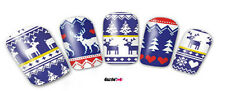 Nail Art Sticker Water Transfer Stickers Xmas Reindeer Trees Hearts (DB247)