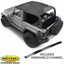 Smittybilt Extended Mesh Top Windshield Header for 10-16 Jeep Wrangler JK 2 Door