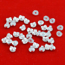 100pcs  925 silver Butterfly Earrings  Back Stoppers Scrolls Findings