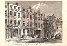 Wigmore Street.1850.West End.Old&New London.Antique print.London