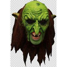 Goblin Warlock Deluxe Chin Strap Latex Mask Fancy Dress Halloween Adult