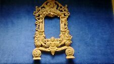 "ANTIQUE VICTORIAN CAST IRON PICTURE FRAME STAND ALONE 14"" X 9"""