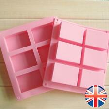 *UK Seller* 6 Cavity Cell Rectangle Silicone Soap Chocolate Cake Mould Mold