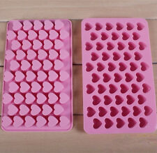 Silicone 55 Heart Cake Chocolate Cookie Ice Cube Soap Mould Jelly Baking Tray