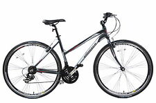 "AMMACO CS250 LADIES ALLOY SPORTS HYBRID URBAN TREKKING BIKE 16"" FRAME GREY"