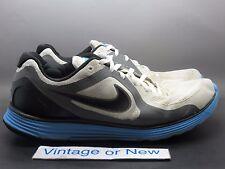 Men's Nike Lunarswift+ White Black Cool Grey Neptune Blue Running 2009 sz 13