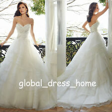 Modest A Line Wedding Dresses Sweetheart Princess Organza Country Bridal Gowns