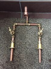 Hand Made Vintage Copper & Brass Basin Belfast Sink Mixer Taps **Half Price**