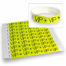 "3/4"" Tyvek Wristbands Neon Yellow VIP - 500 Count"