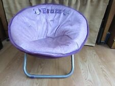 Child's Kid's Round Bratz Purple Fold-Up Chair #2944