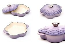 Le Creuset Bluebell Purple Flower Casserole Pot