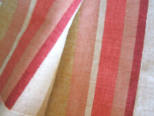 A PIECE OF LAURA ASHLEY RIPLEY STRIPE  CURTAIN COTTON LINEN UNION BURNT SIENA