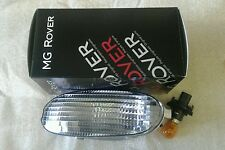 MGF PASSENGER INDICATOR BUMPER & BULB CLEAR LENS  New Genuine MG Rover Part.