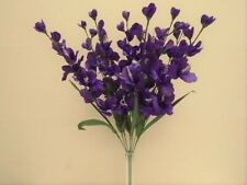 "PURPLE Gladiolus Bush 9 Stems Artificial Silk Flowers 25"" Bouquet 8009PU"