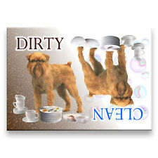 BRUSSELS GRIFFON Clean Dirty DISHWASHER MAGNET No 2 DOG