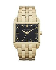 ARMANI EXCHANGE AX2215 Gold Ion Plated Black Dial Square 32MM NEW AUTHENTIC AX