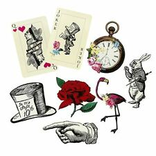 Truly Alice in Wonderland Party Props, Pack of 8