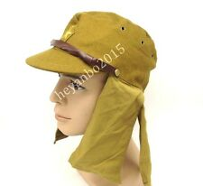 WWII WW2 JAPANESE ARMY SOLDIER FIELD WOOL CAP HAT WITH HAVELOCK NECK FLAP -5621