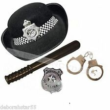 Police Woman Fancy Dress Womens Police Fancy Dress WPC HAT BADGE BATON TRUNCHEON