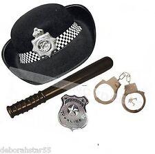 Police Woman Fancy Dress Womens Police Fancy Dress WPC HAT BADGE BATON TRUNCHEON