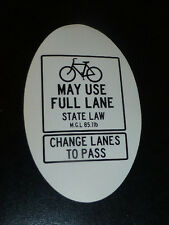 Bikes May Use Full Lane  Vinyl Sticker Decal fixie mtb Mountain road  (2)