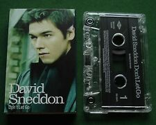 David Sneddon Don't Let Go / Smile Again Cassette Tape Single - TESTED