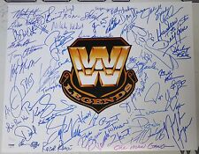 Roddy Piper Hulk Hogan Shawn Michaels +45 WWE Legends Signed 16x20 Photo PSA/DNA