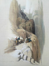 David Roberts 1843 H/C 1st Folio Edition Litho Ascent to the Summit of Sinai