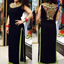 Black Designer Heavy Embroderied Georgette Dress Material
