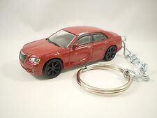 2013 2014 CHRYSLER 300C 300 SRT Sedan Cherry Red Key FOB Keyring Keychain