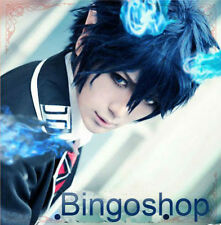 Ao no Exorcist Okumura Rin Dark Blue Short Cosplay Wig Party Hair + free wig cap