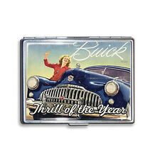 GM Buick Thrill of The Year Werbung Zigarettenetui Etui Schachtel Cigarette Case