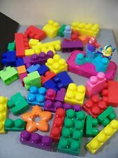 G MEGA BLOKS GIANT BLOCKS LOT LITTLE MERMAID FIGURES BUILDING CONSTRUCTION GIRLS