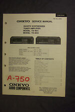 Onkyo Quartz Synthesized Tuner Amplifier TX-901 TX-903  Service Manual