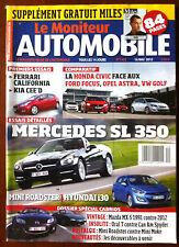 Le moniteur Automobile 16/05/2012; Essais Mercedes SL 350/ Mini Roadster/ Hyunda
