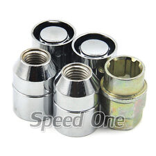 4 M12 1.25 Metal Wheel Lug Lock Nuts for Subaru Forester WRX STI Impreza Outback