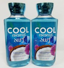 2 Bath & Body Woks Cool Coconut Surf Shower Gel 10 Fl Oz ea NEW!