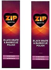 2 x Zip Black Grate and Barbecue Polish Cast Iron Cleaner and Restorer 75ml