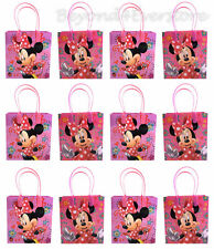 New Disney Minnie Mouse Birthday Party Favors Goodie Bag 12pc Gift Bags