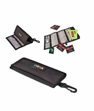 Black Quality Nylon wallet holder for Memory cards Business Cards TF SD CF Cards