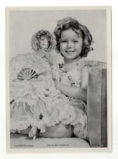 Shirley Temple 1937 Union Dresden Film Star Series 6 5X7 Cigarette Photo Card