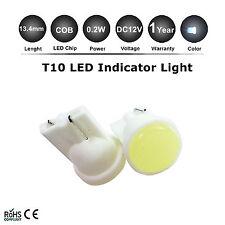2x T10 Cool White 168 194 501 W5W LED Side Car Auto Light Wedge Lamp Bulb DC 12V