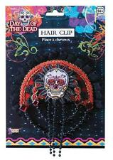 MEXICOS DAY OF THE DEAD SKELETON FESTIVAL SKULL HAIRCLIP COSTUME FM74667