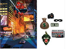 SPIDERMAN Scene Setter HAPPY BIRTHDAY party wall decoration + 6 props backdrop