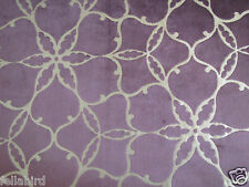 "HARLEQUIN CURTAIN FABRIC DESIGN ""Pasha"" 1.4 METRES VELVET FABRIC GRAPE/MOCHA"