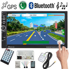 "2 DIN 7""Car GPS Navi MP3 Player USB/TF/FM  TV Radio Stereo Bluetooth Touchscreen"