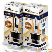 2 x D2R Genuine LUNEX XENON BULB REPLACEMENT FOR PHILIPS , GE OR OSRAM  - 4300K
