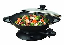 Aroma Professional 5 Quart Heavy-Duty Electric Wok With lid AEW-306 New