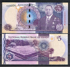 Tonga - 5 Paanga - New design - 2015 issue - UNC currency note