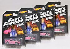 HONDA S2000 * LOT OF 4 * 2016 - 2017 HOT WHEELS FAST & FURIOUS * PINK WALMART